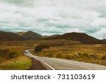 rainy autumn in the mountains | Shutterstock . vector #731103619