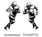 american football player.... | Shutterstock .eps vector #731105773