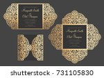 four fold laser cut templates.... | Shutterstock .eps vector #731105830