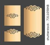 vector laser cut wedding menu... | Shutterstock .eps vector #731105848
