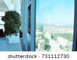 blur room office and window... | Shutterstock . vector #731112730