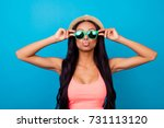 carefree gorgeous dreamy... | Shutterstock . vector #731113120