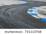 tire marks  skid marks at motor ... | Shutterstock . vector #731113768
