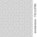 seamless geometric line pattern ... | Shutterstock .eps vector #731113780