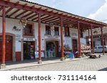 Small photo of March 22, 2014 Santa Clara del Cobre, Mexico: the town with a conserved colonial look is famous for its coppersmith industry