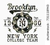 new york  brooklyn   camouflage ... | Shutterstock .eps vector #731118943