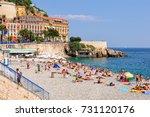 vacationers enjoy the beautiful ... | Shutterstock . vector #731120176