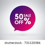 50  offer label sticker  sale... | Shutterstock .eps vector #731120386