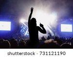 silhouette of girl enjoying the