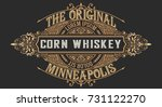 old corn whiskey design  label... | Shutterstock .eps vector #731122270