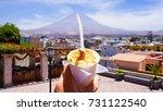 arequipa cheese ice cream   Shutterstock . vector #731122540