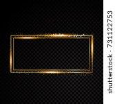 vector rectangle frame. shining ... | Shutterstock .eps vector #731122753