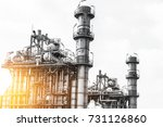 close up industrial zone. plant ... | Shutterstock . vector #731126860