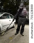 police man checking car floor...   Shutterstock . vector #731128300