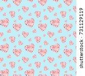 watercolor seamless pattern... | Shutterstock . vector #731129119