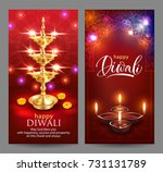 banners with greeting for hindu ... | Shutterstock .eps vector #731131789