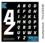 polygonal alphabet  faceted... | Shutterstock .eps vector #731133538