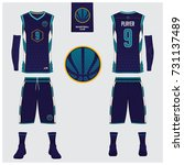 basketball jersey  shorts ... | Shutterstock .eps vector #731137489
