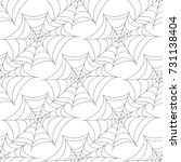halloween seamless patterns... | Shutterstock .eps vector #731138404