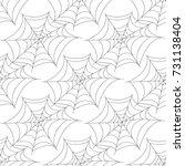 halloween seamless patterns... | Shutterstock .eps vector #731138404