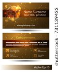 gold card double sided. a gold... | Shutterstock .eps vector #731139433