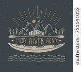 Kayak And Canoe Vintage Label ...