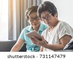 aging society concept with...   Shutterstock . vector #731147479