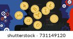 cryptocurrency coin set ... | Shutterstock .eps vector #731149120