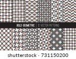 bold geometric vector patterns... | Shutterstock .eps vector #731150200