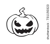 pumpkin vector  halloween... | Shutterstock .eps vector #731150323