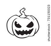 pumpkin vector  halloween... | Shutterstock .eps vector #731150323