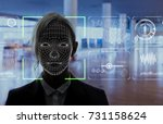 facial recognition system... | Shutterstock . vector #731158624