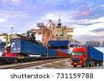 logistics industrial ... | Shutterstock . vector #731159788