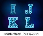 light font bulb text alphabet... | Shutterstock .eps vector #731162014