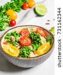 colorful photo of a quinoa ... | Shutterstock . vector #731162344