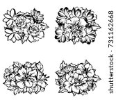 flower set | Shutterstock . vector #731162668