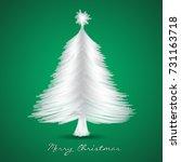 christmas tree greeting card... | Shutterstock .eps vector #731163718