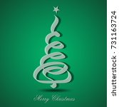 christmas tree greeting card... | Shutterstock .eps vector #731163724