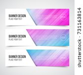 set of modern vector banners... | Shutterstock .eps vector #731163814