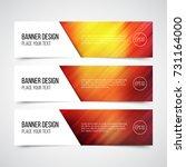 set of modern vector banners... | Shutterstock .eps vector #731164000