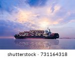 logistics and transport of... | Shutterstock . vector #731164318