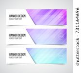 set of modern vector banners... | Shutterstock .eps vector #731164696