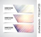 set of modern vector banners... | Shutterstock .eps vector #731164720