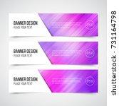 set of modern vector banners... | Shutterstock .eps vector #731164798