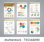 business data process chart.... | Shutterstock .eps vector #731166040