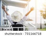 summer vacation lifestyle with... | Shutterstock . vector #731166718