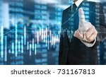investment concept hand with... | Shutterstock . vector #731167813
