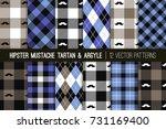 hipster mustache tartan plaid... | Shutterstock .eps vector #731169400