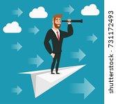 cartoon character  businessman... | Shutterstock .eps vector #731172493
