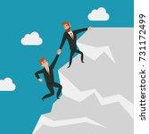 global business vector template ... | Shutterstock .eps vector #731172499